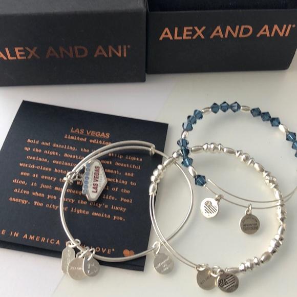Alex And Ani Jewelry Las Vegas Limited Edition Bracelets Poshmark